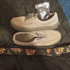 vans off the wall shoes with vans belt